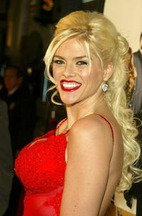 Anna Nicole Smith at the premiere of