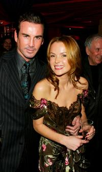 Gary Stretch and Amanda Holden at the British Independent Film Awards.