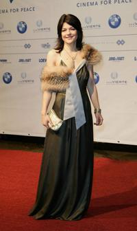 Jasmin Tabatabai at the Cinema for Peace Charity Gala during the Berlin International Film Festival (Berlinale).