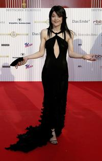 Jasmin Tabatabai at the German Film Awards (Deutscher Filmpreis).