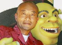 Naoto Takenaka, Shrek and Antonio Banderas at the Japan premiere of