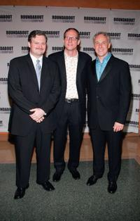 John Ellison Conlee, Director Mark Brokaw and John Dossett at the after party of the opening night of