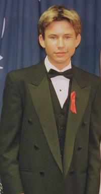 Jonathan Taylor Thomas at the 1996 EMMY awards.