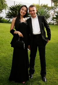 Ayanat Ksenbai and Philippe Torreton at the premiere of