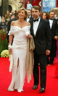 Claire Chazal and Philippe Torreton at the 57th Cannes Film Festival Opening Ceremony.