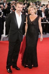 Philippe Torreton and Claire Chazal at the premiere of