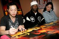 Ken Leung, Treach and Tina Chen at the screening of