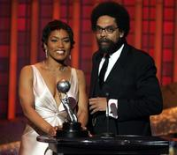 Angela Bassett and Cornel West at the 36th NAACP Image Awards.