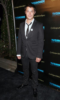 Aurelien Wiik at the TV5Monde party for the 13th