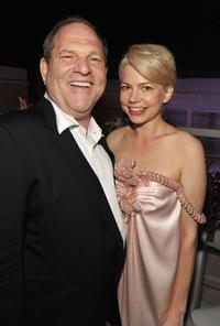 Harvey Weinstein and Michelle Williams at the after party of the France premiere of