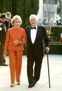 Kirk Douglas and wife Diana Douglas at the Vanity Fair Oscar Party.