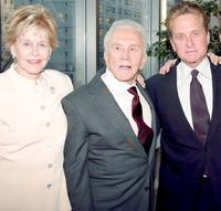 Diana Douglas, Kirk Douglas and Michael Douglas at the New York premiere of
