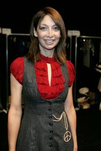 Illeana Douglas at the Nanette Lepore Spring 2007 fashion show during Olympus Fashion Week.