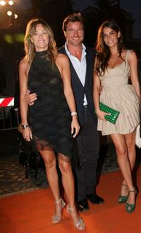 Hoara Borselli, Paolo Conticini and Ilaria Spada at the Roma Fiction Fest.