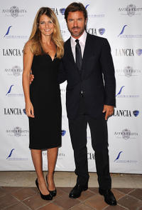 Giada Parra and Paolo Conticini at the Lancia Cafe 2011 Nastri d'Argento Awards Cocktail party.