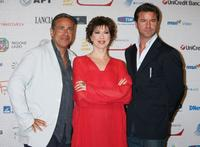 Enzo De Caro, Veronica Pivetti and Paolo Conticini at the Roma Fiction Fest 2008.