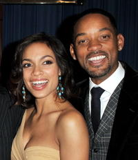 Rosario Dawson and Will Smith at the after party of the premiere of