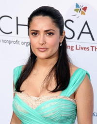 Salma Hayek at the Chrysalis' 5th Annual Butterfly Ball.