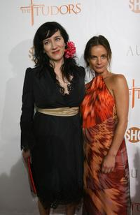 Maria Doyle Kennedy and Gabrielle Anwar at the premiere of