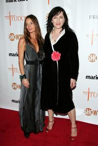 Gabrielle Anwar and Maria Doyle Kennedy at the New York premiere of