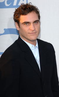 Joaquin Phoenix at PETA's 15th Anniversary Gala and Humanitarian Awards in Hollywood.
