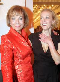 Judy Winter and Katja Riemann at the Artists Against AIDS Charity Gala.