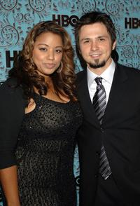 Elsie Rodriguez and Freddy Rodriguez at the HBO Emmy after party.