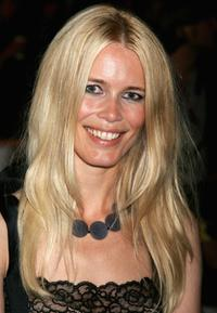 Claudia Schiffer at the Fashion Relief during the London Fashion Week 2007.