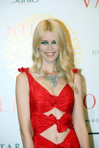 Claudia Schiffer at the post haute couture show gala dinner and ball in the Parco dei Daini.