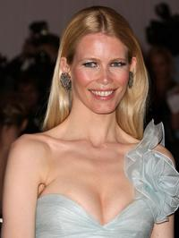 Claudia Schiffer at the Metropolitan Museum of Art Costume Institute Gala, Superheroes: Fashion and Fantasy.