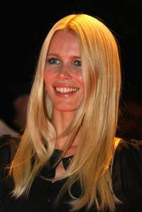 Claudia Schiffer at the Swarovski Fashion Rocks concert.