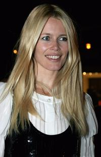 Claudia Schiffer at the Vogue Covers book launch.