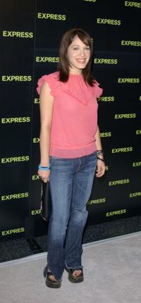 Marla Sokoloff at the Express store opening.