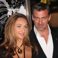 Ray Stevenson and Guest at the screening of
