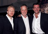 Kevin McKidd, Bruno Heller and Ray Stevenson at the premiere of