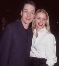French Stewart and date at the NBC All-Star Party.