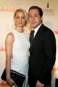 French Stewart and his wife Katherine La Nasa at the Life and Style Magazine's Stylemakers 2005.