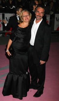 Emma Thompson and Greg Wise at the Golden Age Of Couture party.