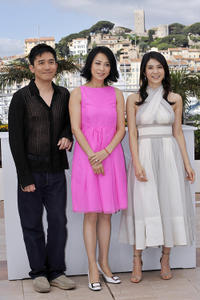 Tony Leung, Carina Lau and Charlie Yeung at the photocall of
