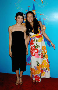Charlie Yeung and singer Karen Mok at the red carpet of