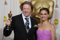 Anthony Dod Mantle and Natalie Portman at the 81st Annual Academy Awards.
