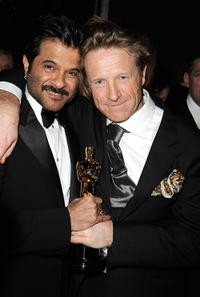 Anil Kapoor and Anthony Dod Mantle at the after party for