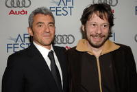 Daniel Battsek and Mathieu Amalric at the special screening of