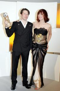 Mathieu Amalric and Sabine Azema at the 30th Nuit des Cesar, France's top movie awards.