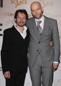 Mathieu Amalric and Swiss director Marc Forster at the Paris premiere of