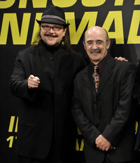 Alex Angulo and Santiago Segura at the premiere of