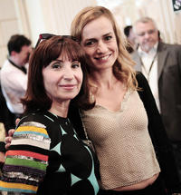 Ariane Ascaride and Sandrine Bonnaire at the 61st International Cannes Film Festival in France.