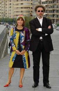 Ariane Ascaride and Robert Guediguian at the photocall of