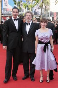Simon Abkarian, Robert Guediguian and Ariane Ascaride at the screening of