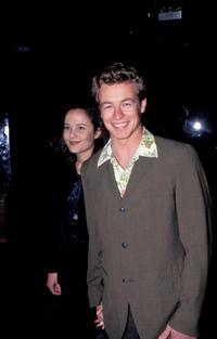 Simon Baker and Rebecca Rigg at the pork chop launch.
